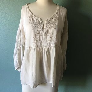 Odd Molly embroidered peplum blouse